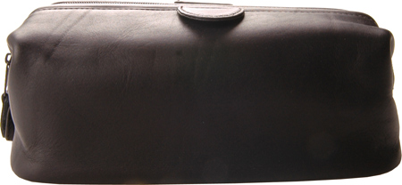ロイス レザー Royce Leather Deluxe Toiletry Bag 265-5 - Black Leather バッグ 鞄 かばん