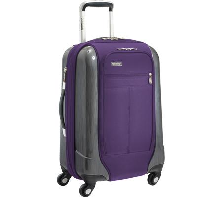 Ricardo Beverly Hills Crystal City 20 Expandable Spinner Carry-On - Imperial Purple バッグ 鞄 かばん