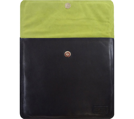 E64ST Westside Envelope - Leather - Black Leather Lime Green バッグ 鞄 かばん
