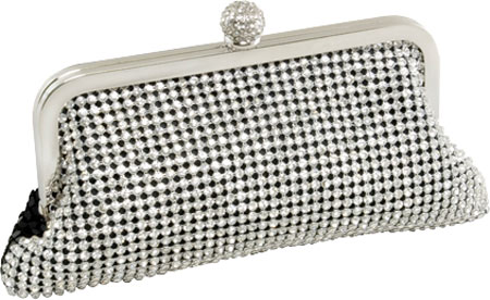 ジェイ.ファーマーニ J. Furmani 61231 Crystal and Metal Mesh Evening Bag - Silver バッグ 鞄 かばん