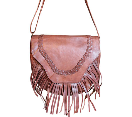 SHARO Genuine Leather Bags Fringed Western Cross Body Bag - Brown バッグ 鞄 かばん 斜め掛け