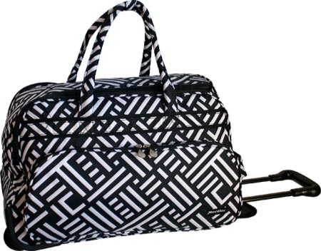 Jenni Chan Signature Soft Carry All Duffel - Black White バッグ 鞄 かばん ダッフルバッグ