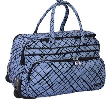 Jenni Chan Brush Strokes Soft Carry All Duffel - Blue バッグ 鞄 かばん ダッフルバッグ