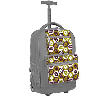 JWorld New York Sunset Rolling Backpack - Coffee バッグ 鞄 かばん バックパック リュックサック