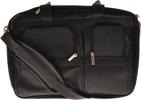 ミレニアム レザー Millennium Leather Vaqueta Contemporary Laptop Briefcase - Black Vaqueta Napa バッグ 鞄 かばん