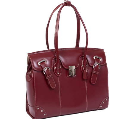 McKlein LeClaire - Red Italian Leather バッグ 鞄 かばん