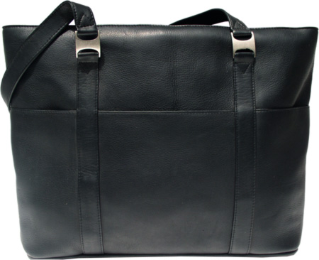 ピエルレザー Piel Leather Computer Tote Bag 2470 - Black Leather バッグ 鞄 かばん