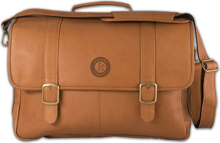 パンゲア Pangea Porthole Laptop Briefcase PA 142 MLB - Oakland As Tan バッグ 鞄 かばん