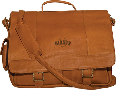 パンゲア Pangea Porthole Laptop Briefcase PA 142 MLB - San Francisco Giants Tan バッグ 鞄 かばん