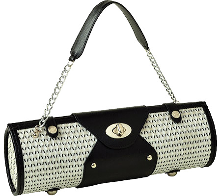 Picnic at Ascot Wine Carrier Purse - Black White バッグ 鞄 かばん ハンドバッグ