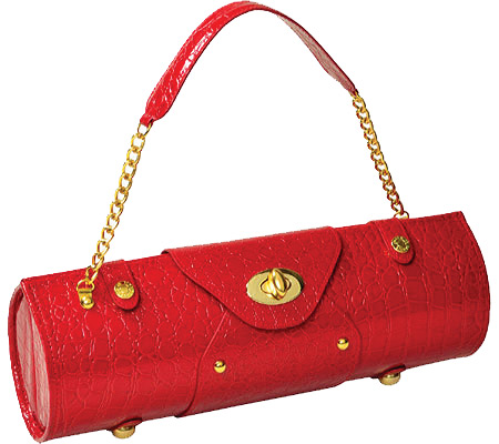 Picnic at Ascot Wine Carrier Purse - Red Croc バッグ 鞄 かばん ハンドバッグ
