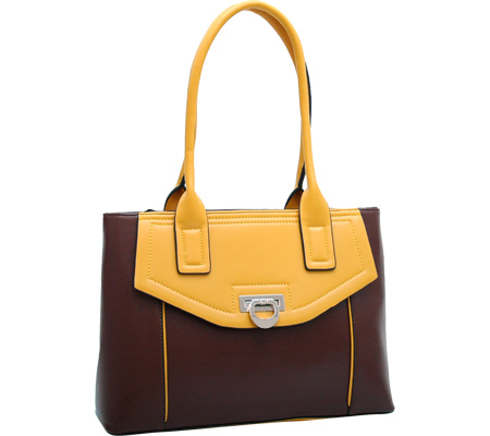 Dasein Shoulder Bag 2522-140538 - Coffee Yellow バッグ 鞄 かばん ハンドバッグ