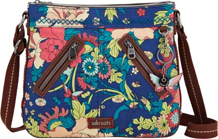サックルーツ Sakroots Artist Circle East West Crossbody - Royal Flower Power バッグ 鞄 かばん ハンドバッグ