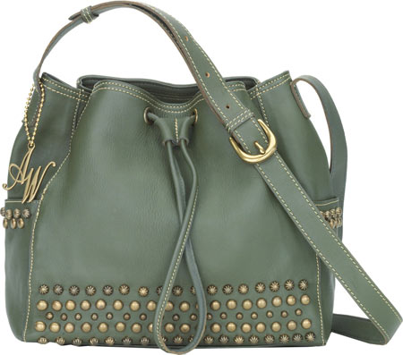 American West Dixie Girl Drawstring Crossbody - Olive Green バッグ 鞄 かばん ハンドバッグ