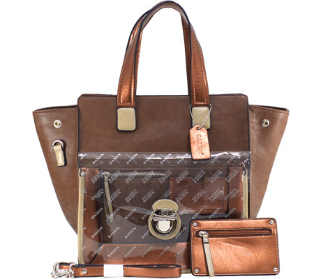 Dasein Tote Bag 2741-101527 - Coffee Brown バッグ 鞄 かばん ハンドバッグ