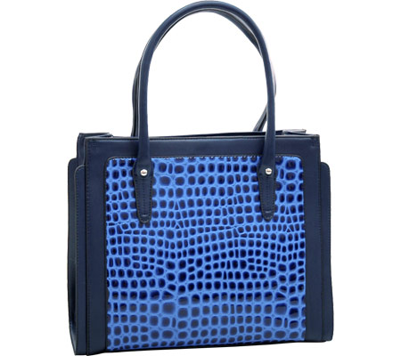 Dasein Boxy Tote 2237-220087 - Blue バッグ 鞄 かばん ハンドバッグ