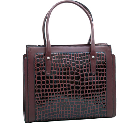Dasein Boxy Tote 2237-220087 - Coffee バッグ 鞄 かばん ハンドバッグ