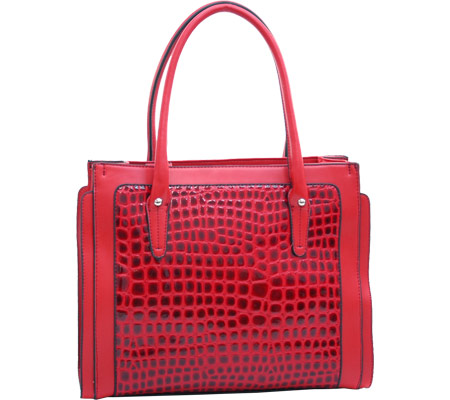 Dasein Boxy Tote 2237-220087 - Red バッグ 鞄 かばん ハンドバッグ