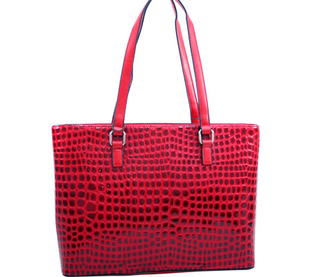 Dasein Large Fashion Tote 2237-4875 - Red バッグ 鞄 かばん ハンドバッグ