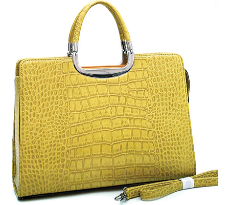 Dasein Classic Briefcase 2484-90017 - Yellow バッグ 鞄 かばん ハンドバッグ