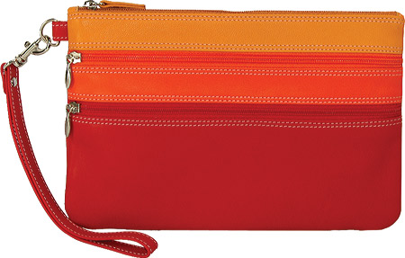 Belarno A212 Large Trizip Clutch - Red バッグ 鞄 かばん ハンドバッグ