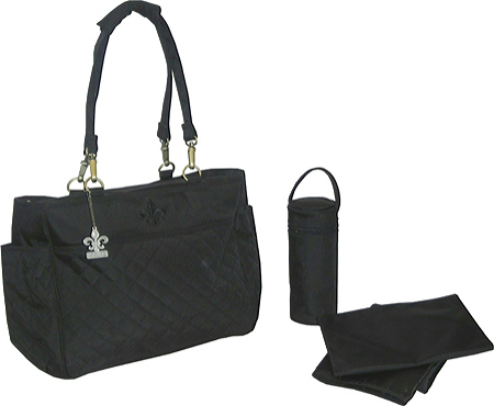 Kalencom NOrleans Tote - Quilted Black Black Stitching バッグ 鞄 かばん ハンドバッグ