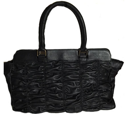 SHARO Genuine Leather Bags Deleite by SHARO Large Quilted Leather Handbag - Black バッグ 鞄 かばん ハンドバッグ