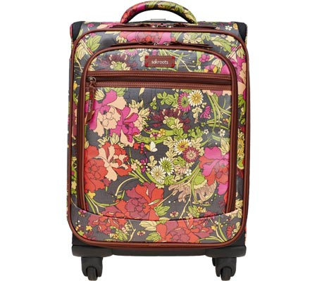 サックルーツ Sakroots Artist Circle Rolling Carry On Suitcase - Slate Flower Power バッグ 鞄 かばん