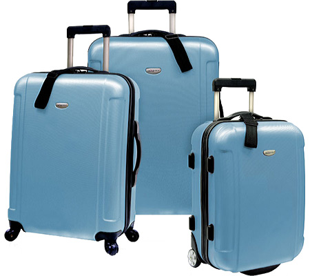 トラベラーズチョイス Travelers Choice Freedom 3pc Hard Shell Rolling Travel Collection - Arctic Blue バッグ 鞄 かばん