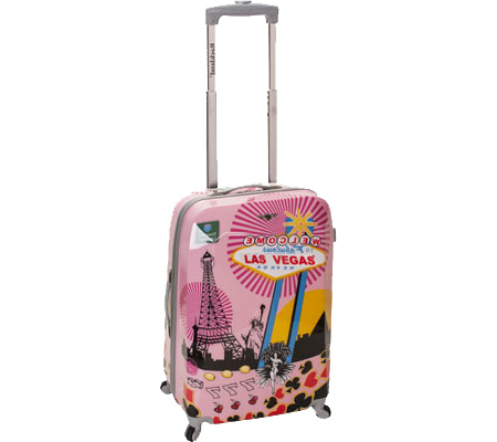 Rockland 20 Polycarbonate Carry On F206 - Pink Vegas バッグ 鞄 かばん