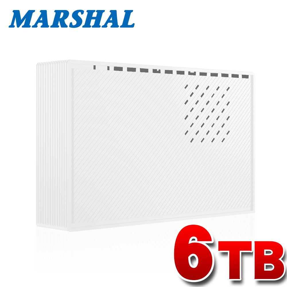 外付けハードディスク 6TB ホワイト テレビ録画 各社対応 レグザ アクオス ビエラ ブラビア USB3.0外付けHDD MARSHAL MAL36000EX3-WH