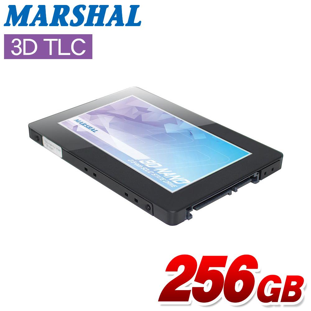 【256GB】MARSHAL 内蔵SSD MAL2256SA-AS3DL7mm厚 3D TLC NAND SATA 6Gb/s新品 2年保証 2.5mmスペーサ付属【あす楽対応】