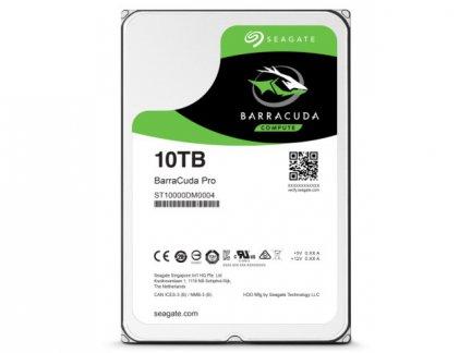 SEAGATE 内蔵ハードディスク 3.5インチ 10TB BarraCuda Pro7200rpm SATA 256MB ST10000DM0004【メーカーリファブ】