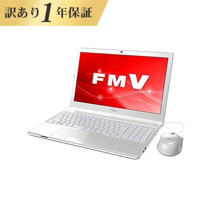 【1年保証】ノートパソコン office付き 新品 同様 訳あり 富士通 FMV LIFEBOOK AH30/C3 AMD E2 9000 Windows10 500GB 4GB 15.6インチ HD DVD-RW 無線LAN WPS Office付属 FMVA30C3W2