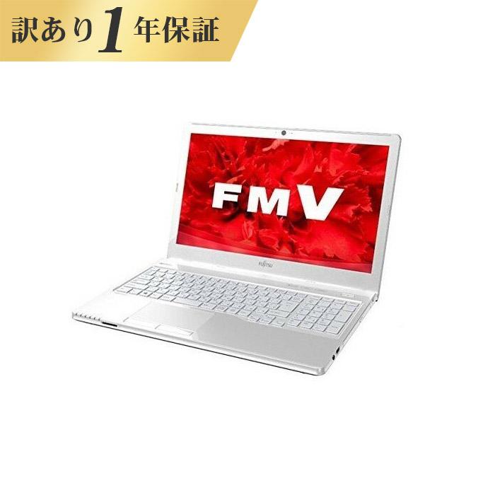 【1年保証】ノートパソコン office付き 新品 同様 訳あり 富士通 FMV LIFEBOOK AH30/C3 AMD E2 9000 Windows10 500GB 4GB 15.6インチ HD DVD-RW 無線LAN WPS Office付属 FMVA30C3W3