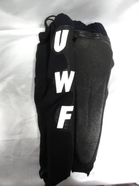 初期 UWFレガース プロ仕様 シマスポーツ製 黒