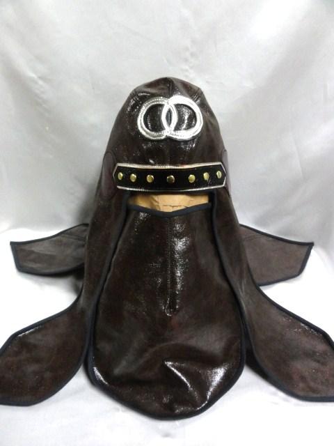 忍者 頭巾 DX  ブラウンレザー風  グレートムタ コスプレ ハロウィン にどうでしょ