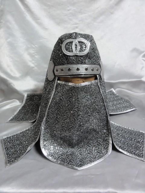 忍者 頭巾 DX  シルバーラメ  グレートムタ コスプレ ハロウィン にどうでしょ