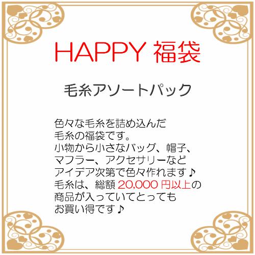 毛糸アソートパックHAPPY福袋毛糸/夏糸/冬糸/福袋/手編み/アソート