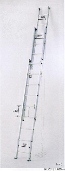 【一部送料無料】ピカコーポレーション3連はしごアルフ全長14.1m3ALF-150