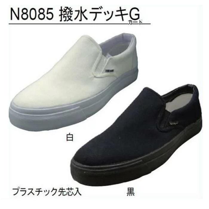撥水加工 イエテン撥水デッキG ガード N8085 プラスチック先芯入 スリッポンスタイル 作業靴 売店 驚きの値段で 自然たび たびぐつ たびくつ