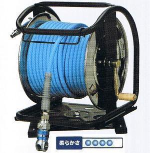 【送料無料】フジマックマッハスムージーホースドラム常圧用1.5Mpa長さ30mNDALBG-730TC-Sステンレス製:回転台つきオートロックスウィングダスターソケット付  エアーホースドラム内径7mm×外径10.0mm