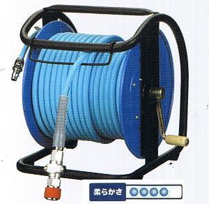 フジマックマッハスムージーホースドラム常圧用1.5Mpa長さ30mNDBG-730C-Sステンレス製:回転台なしダスターソケット付  エアーホースドラム内径7mm×外径10.0mm