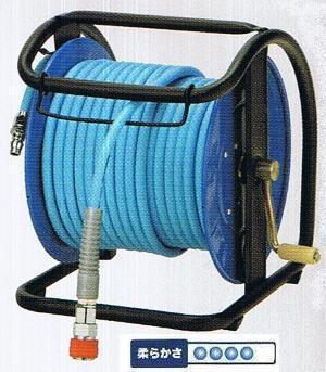 フジマックマッハスムージーホースドラム常圧用1.5Mpa長さ30mNDZG-730Cスチール製:回転台無ロック一発カプラ  エアーホースドラム内径7mm×外径10.0mm