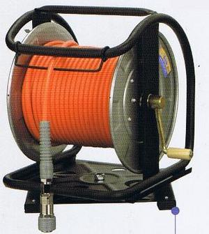 フジマックマッハ エアーホースドラム高圧用3.0Mpa長さ30mオレンジ:NHD-630C/ホワイト:WHD-630Cスチール製:回転台なしロック一発カプラ  エアーホースドラム内径6.0mm×外径10.0mm【送料無料】