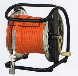 フジマックマッハ エアーホースドラム高圧用3.0Mpa長さ30mオレンジ:NHDB-530TC/ホワイト:WHDB-530TCスチール製:回転台ありダスターソケット付  エアーホースドラム内径5.0mm×外径9.0mm【送料無料】