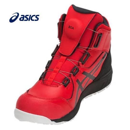 ASICS アシックス ウィンジョブCP304 BOA安全靴 ハイカットクラシックレッド×ブラック1271A030600ダイヤル式男女兼用 ユニセックス