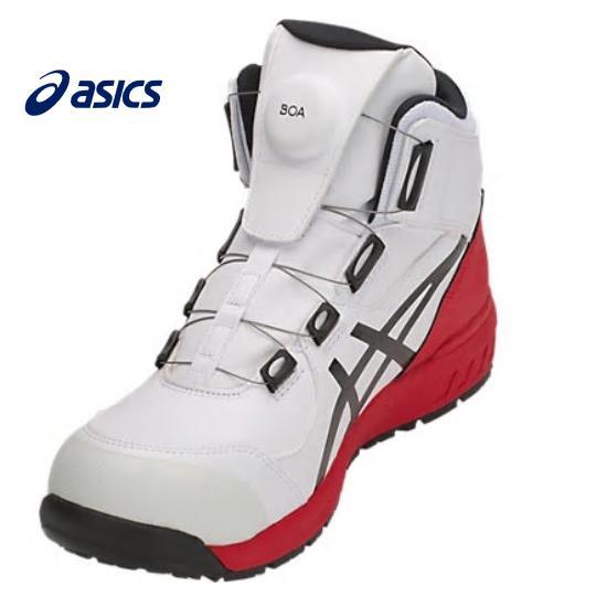 ASICS アシックス ウィンジョブCP304 BOA安全靴 ハイカットホワイト×ブラック1271A030100ダイヤル式男女兼用 ユニセックス