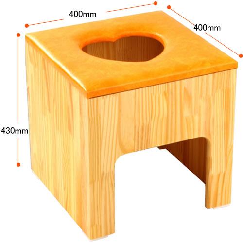 よもぎ蒸し木製座薫ハート型クッションイス≪送料無料、代引不可、日時指定不可≫