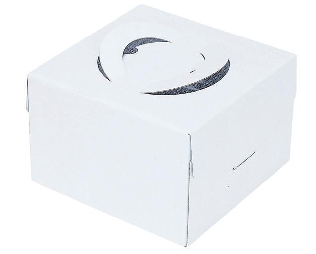 24cmケーキ用 アウトレットセール 特集 高さ15cm ケーキ箱 ホワイト 8寸 キャリーデコ 人気の定番